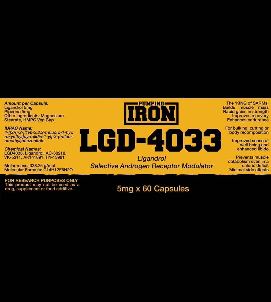 Puming Iron LGD 4033 Label