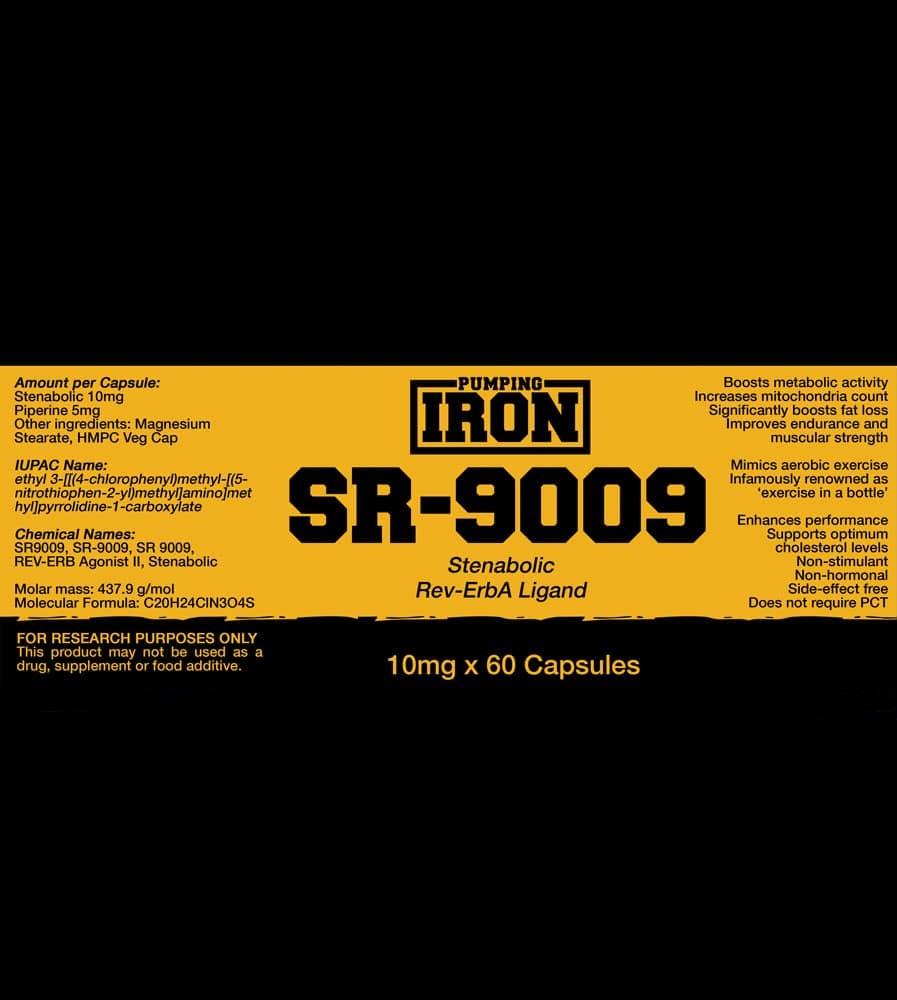 Pumping Iron Stenabolic (SR-9009) lABEL