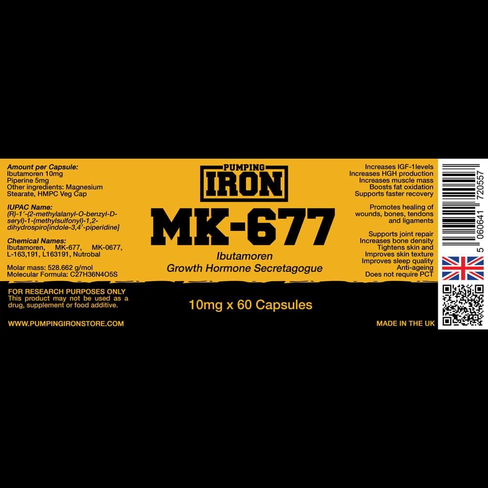 Pumping Iron MK-677 Label
