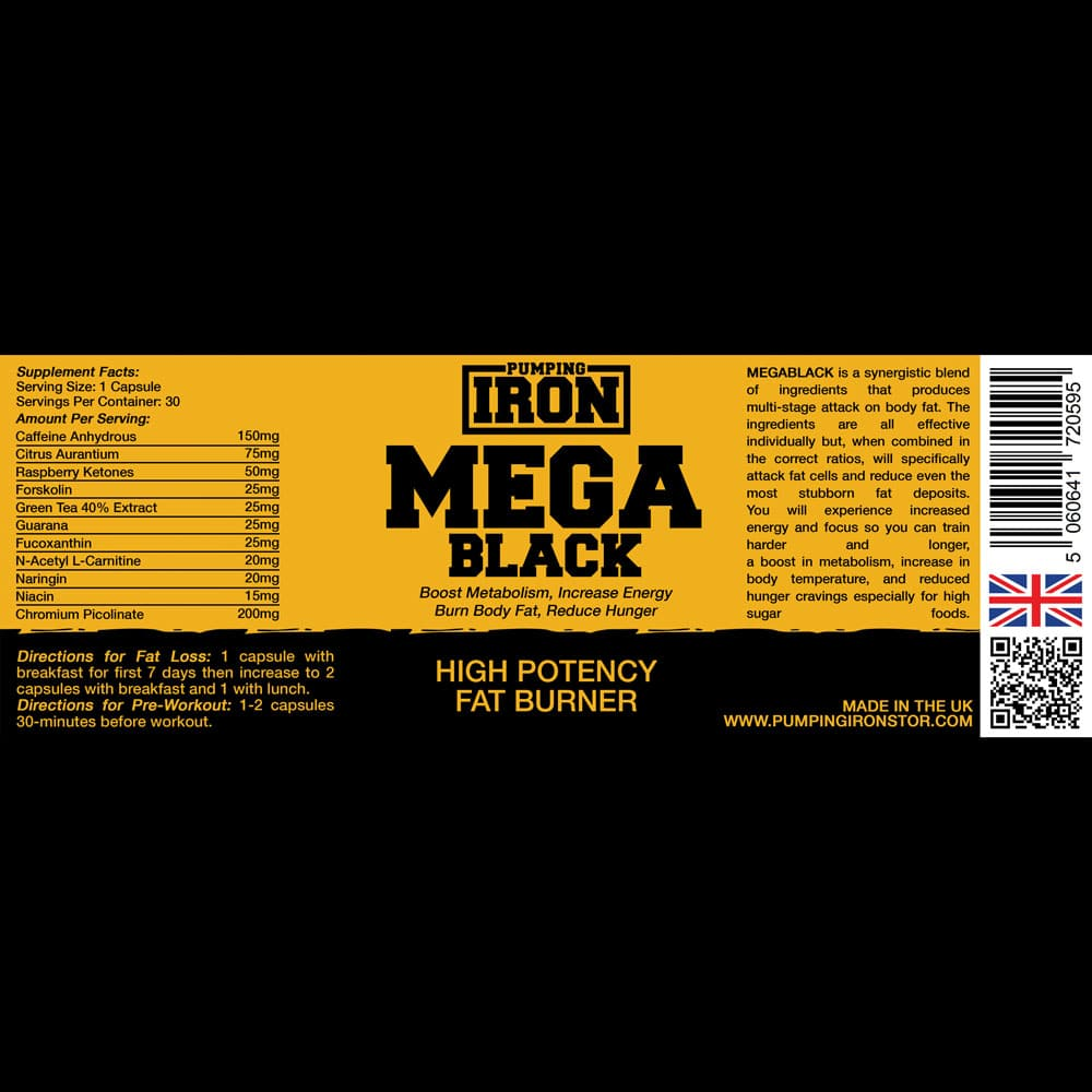 Pumping Iron MegaBlack Label
