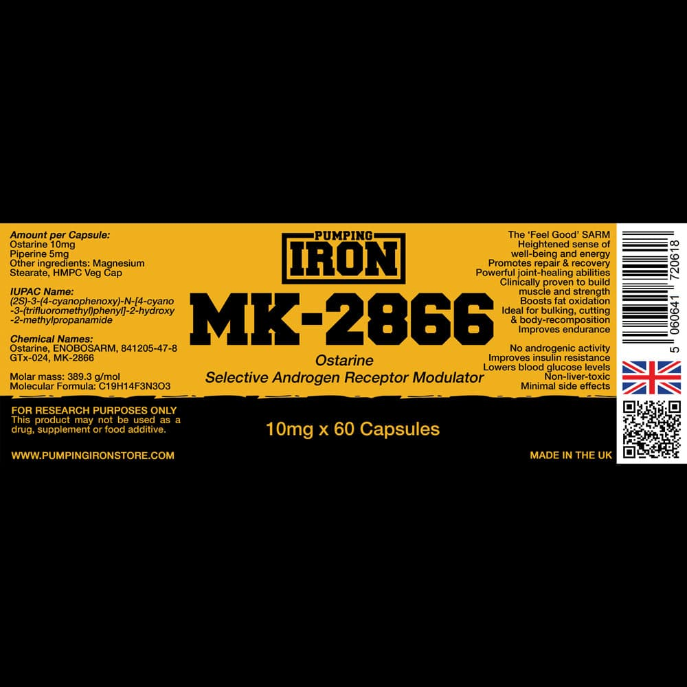 Pumping Iron Ostarine Label