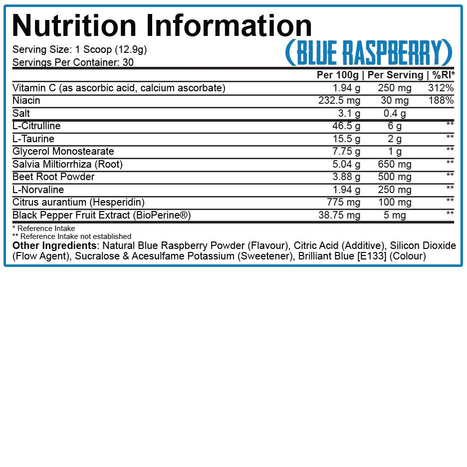 5%nutrition - Full as f*ck Label