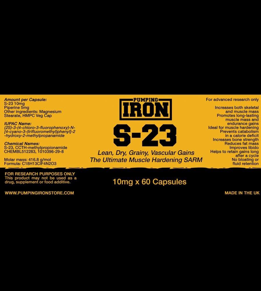 Pumping Iron - S23 Label