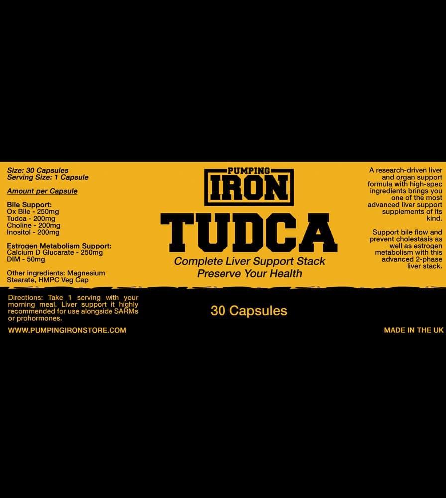 Pumping Iron - TUDCA Label
