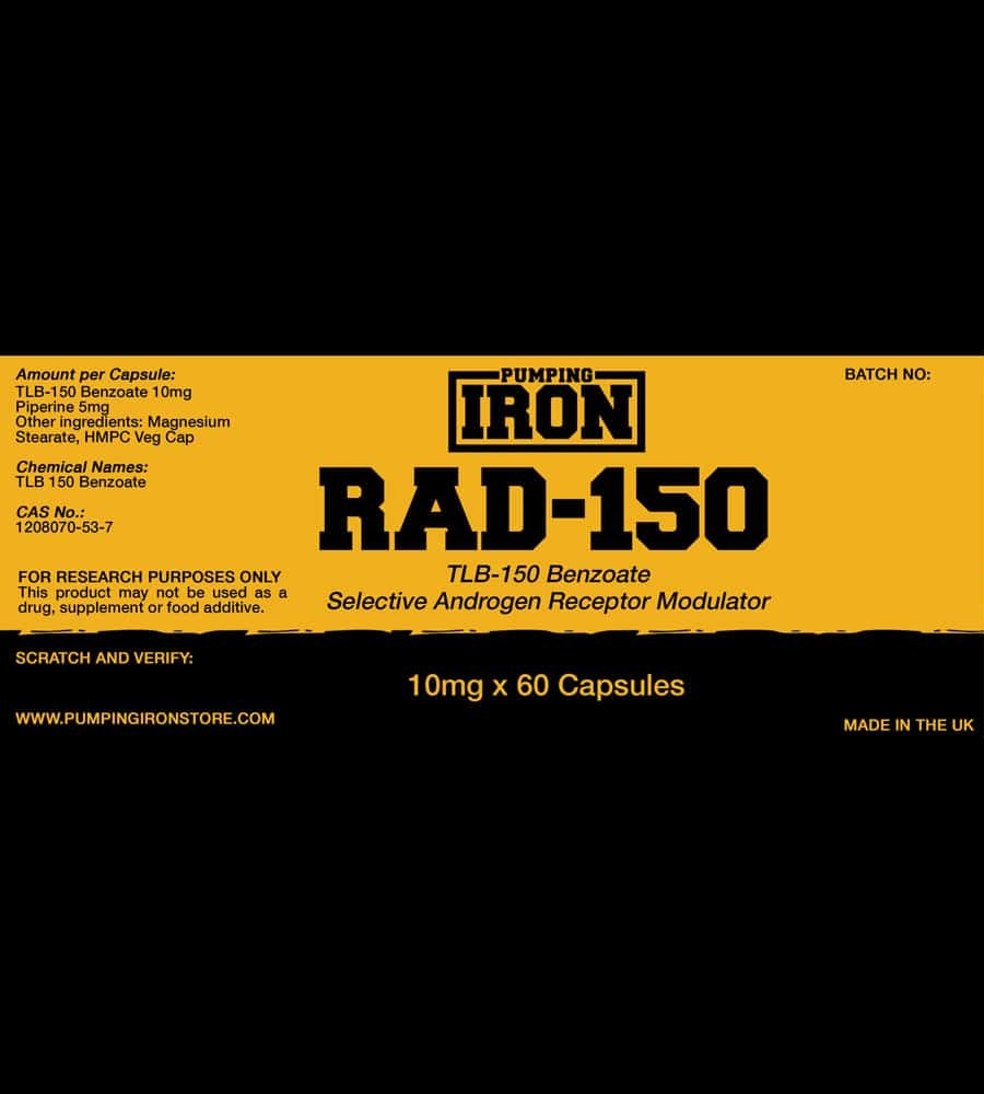 Pumping Iron - RAD150 Label