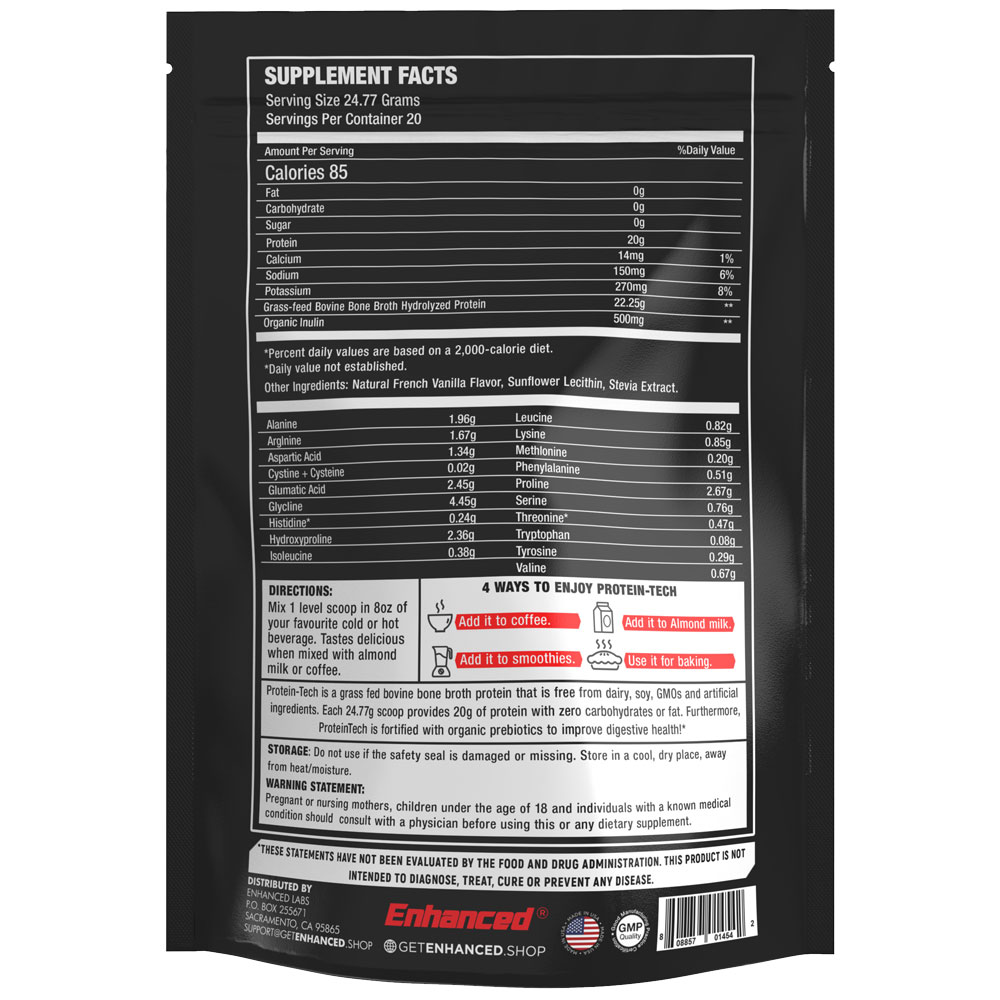 Enhanced Athlete - Protein-Tech Facts
