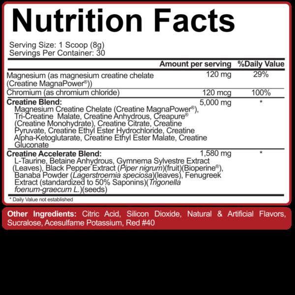 5% Nutrition – Crea-TEN Label