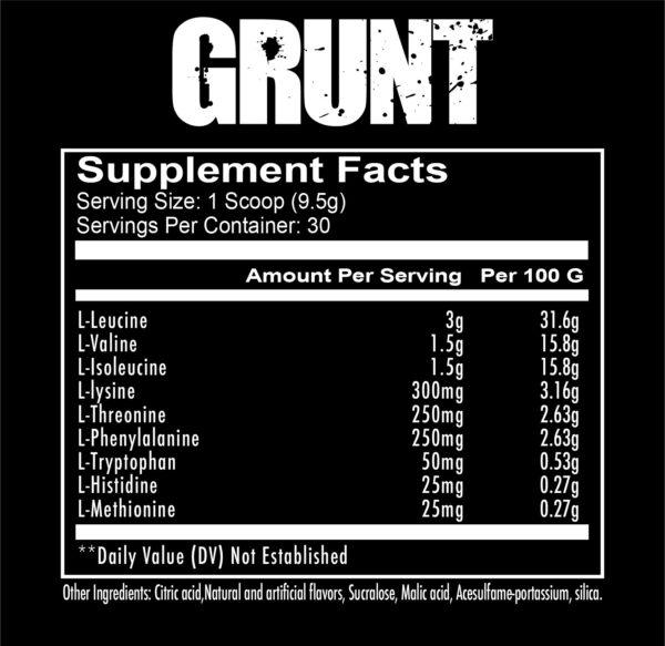 Redcon1 Grunt EAA Label
