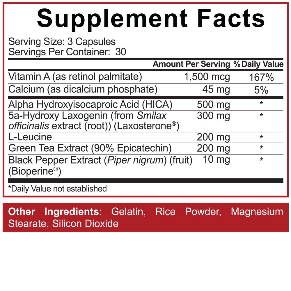 5%Nutrition - Bigger By The Day Label